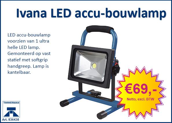 Ivana LED accu-bouwlamp (20W)