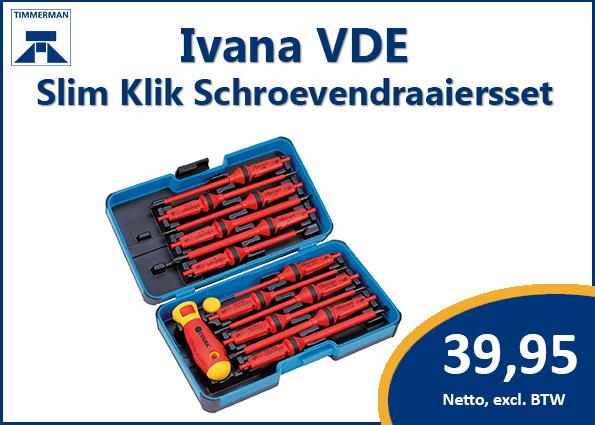 Ivana VDE – Slim Klik Schroevendraaierset