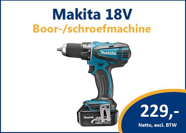 Makita 18V boor-/schroefmachine (type DDF456RFJ)