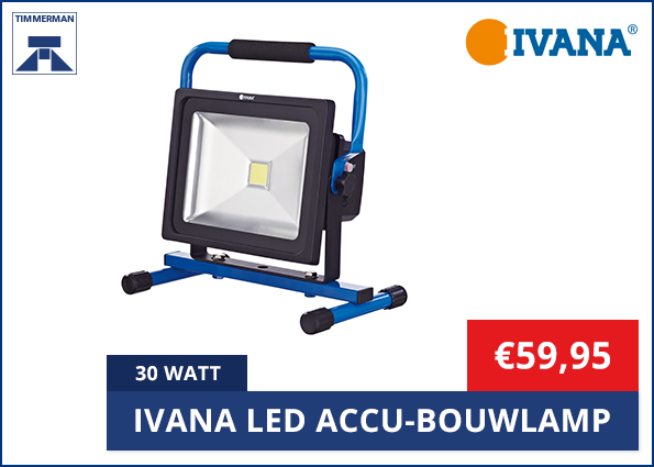 Ivana Led Accu-Bouwlamp 30 Watt