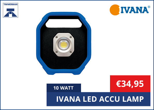Ivana Led Accu Lamp 10 Watt