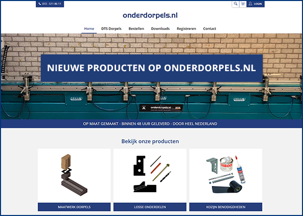 Nieuwe producten op Onderdorpels.nl