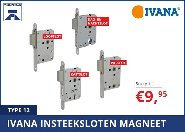 Ivana insteeksloten magneet, type 12