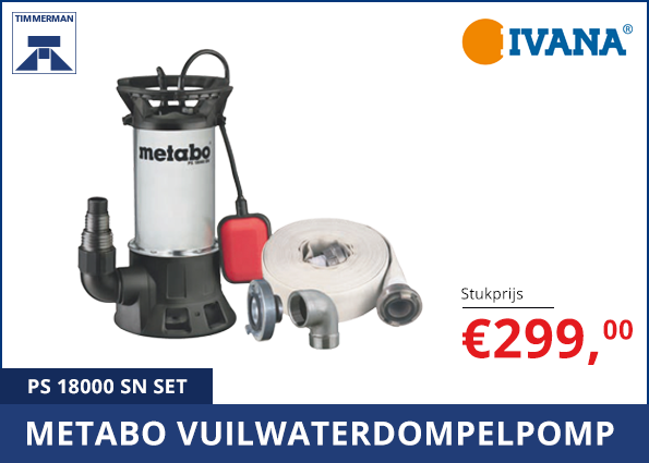 Metabo Vuilwaterdompelpomp PS 18000 SN SET