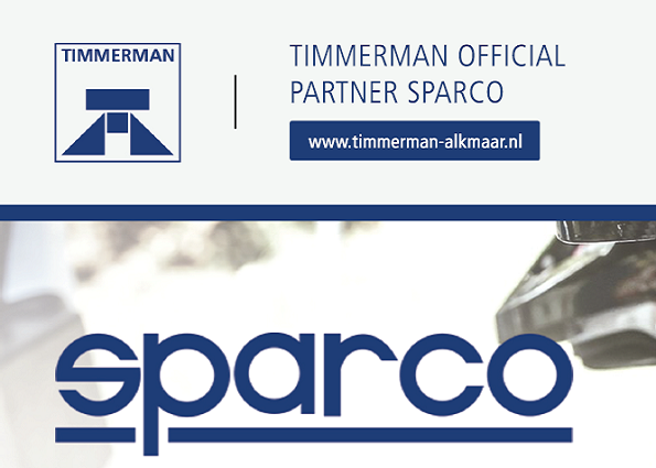 Timmerman is official partner van Sparco