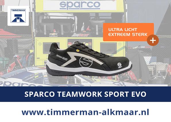 Exclusief bij Timmerman: Sparco Teamwork Sport Evo