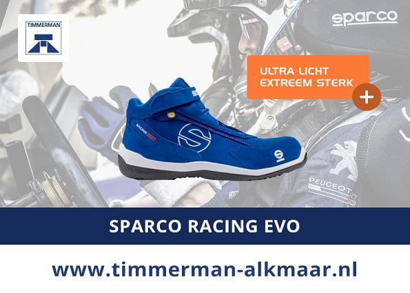 Exclusief bij Timmerman: Sparco Racing Evo