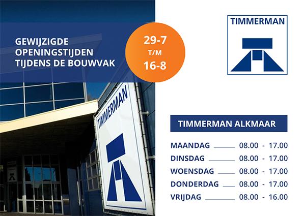 Aangepaste openingstijden Alkmaar tijdens bouwvak