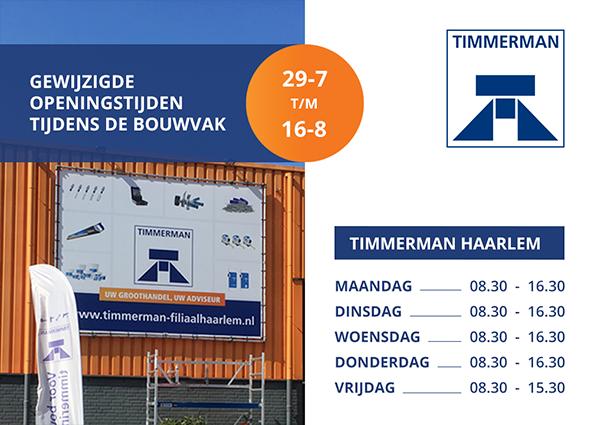 Aangepaste openingstijden Haarlem tijdens bouwvak