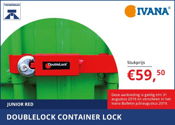 Doublelock container lock junior red