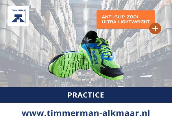Uniek en exclusief bij Timmerman: Sparco Practice werkschoenen