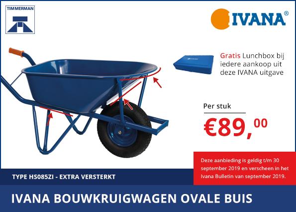 Ivana bouwkruiwagen ovale buis