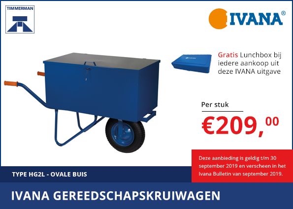 Ivana gereedschapskruiwagen ovale buis