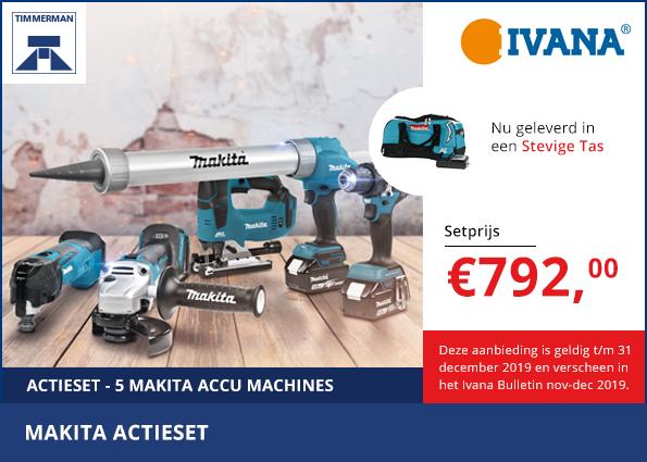 Actieset met maar liefst 5 Makita accu machines