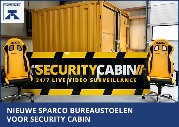 Nieuwe Sparco bureaustoelen voor Security Cabin