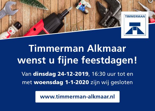 Fijne feestdagen namens Timmerman Alkmaar
