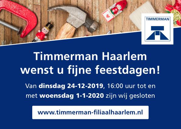 Fijne feestdagen namens Timmerman Haarlem