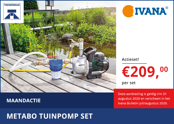Metabo Tuinpomp set
