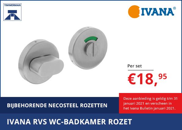 Ivana RVS WC-badkamer Rozet