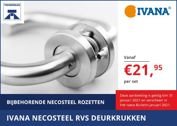 Ivana Necosteel RVS Deurkrukken