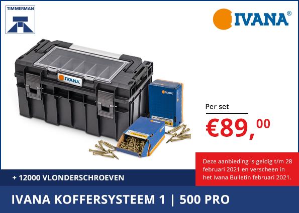 Koffersysteem 1 500 PRO + 1.200 Vlonderschroeven