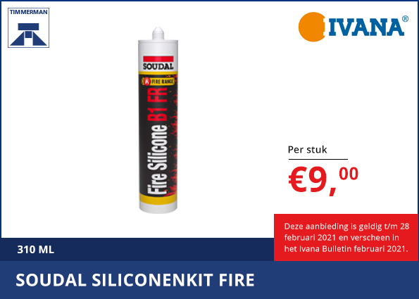 Soudal Siliconenkit Fire
