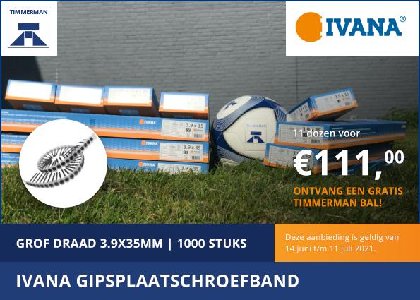 EK Actie: Ivana Gipsplaatschroefband
