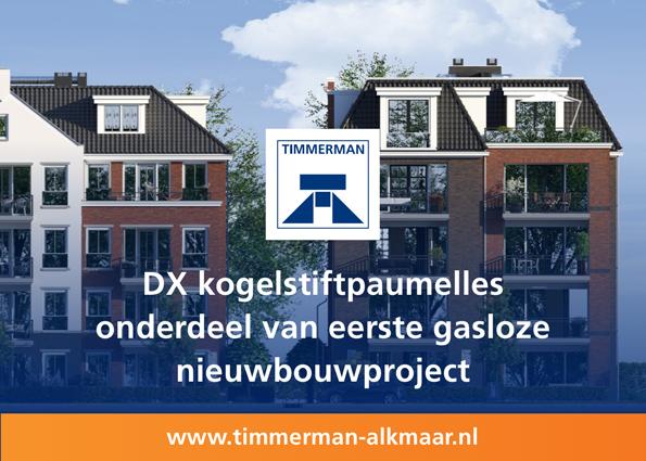 DX kogelstiftpaumelles onderdeel van eerste gasloze nieuwbouwproject